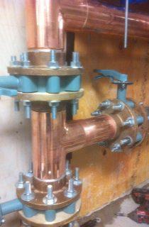 Large copper connection