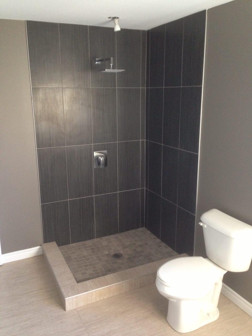 Standing shower installation