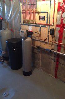 Basement plumbing setup