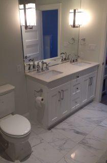 Double Vanity and Toilet