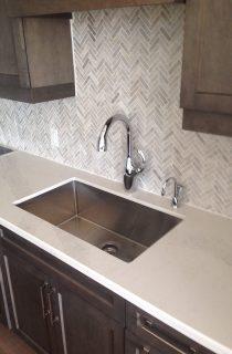 Kitchen sink and counter installation