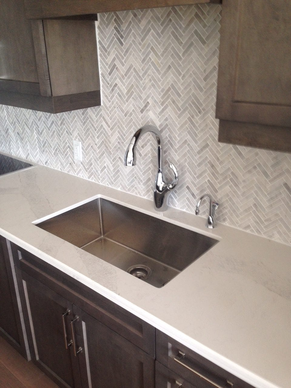 Kitchen sink and counter installation