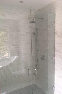Glass door shower project